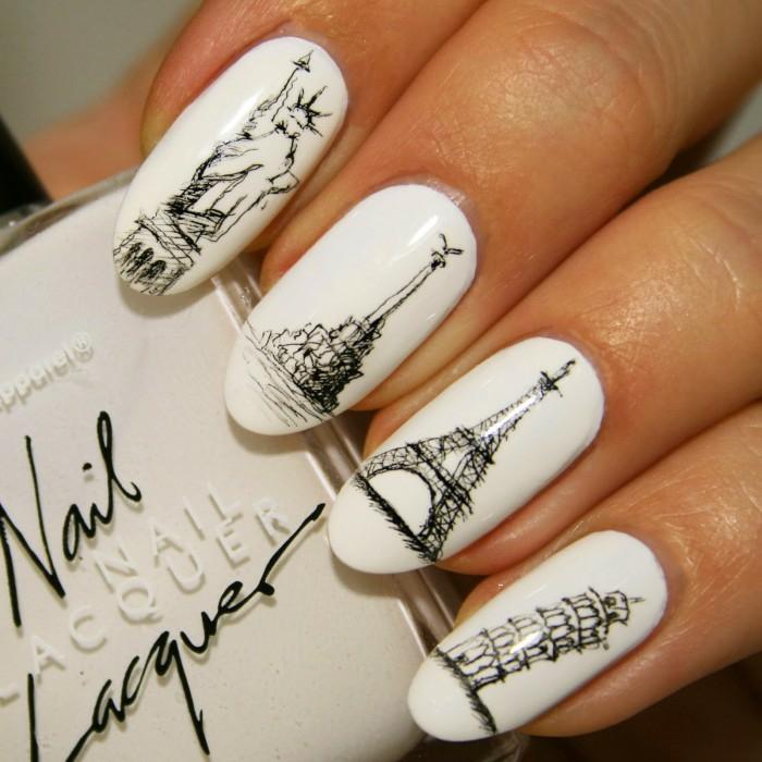 nageldesigns fingernägel design nailart nagellack gelnägel eifelturm pizaturm monumente motive