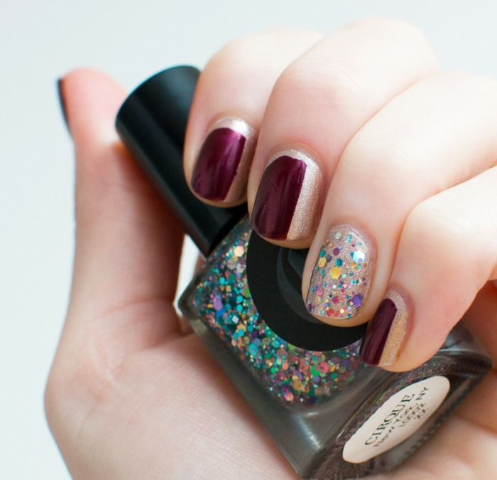 fingernägel design nailart nagellack glitzer bunt