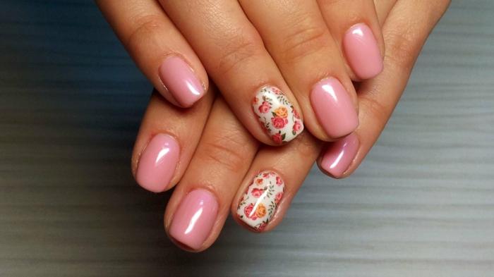 nageldesigns fingernägel design nailart rosarosen motive shabby chic nagellack gelnägel