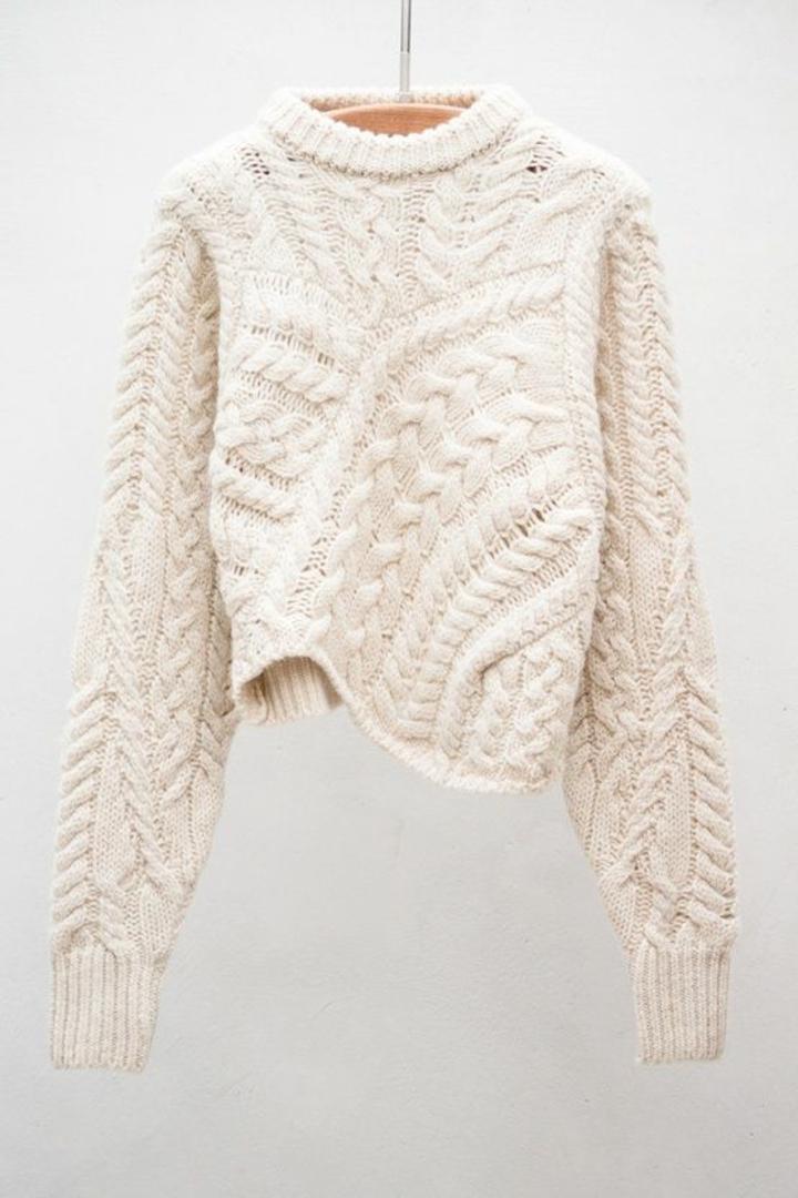 neue Modetrends 2016 Strickmode Damenpullover weiß