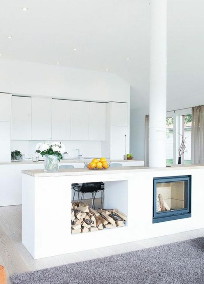 offene Küche Ideen Küchenbilder Kücheninsel weiße Küchen