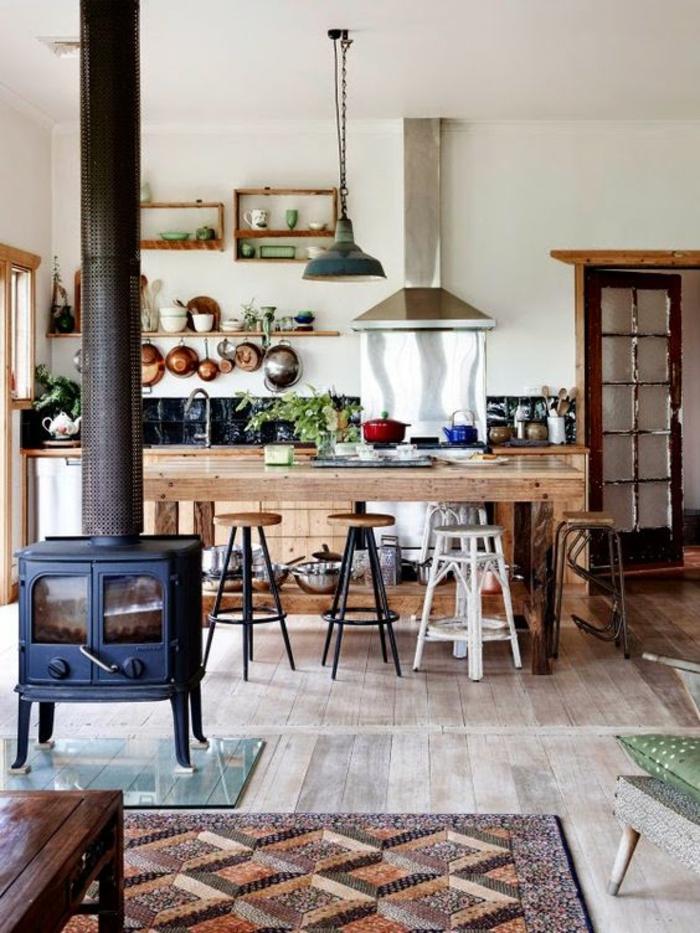 offene küche ideen: so richten sie eine moderne küche ein - Küchenmöbel Aus Holz