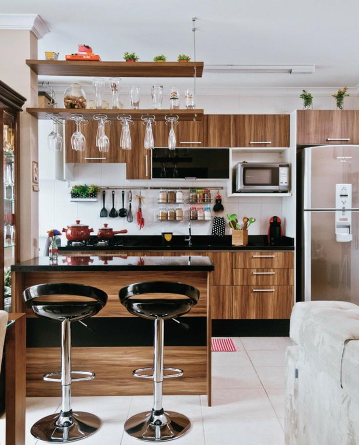 offene Küche Ideen Küchenbilder moderne Küche aus Holz