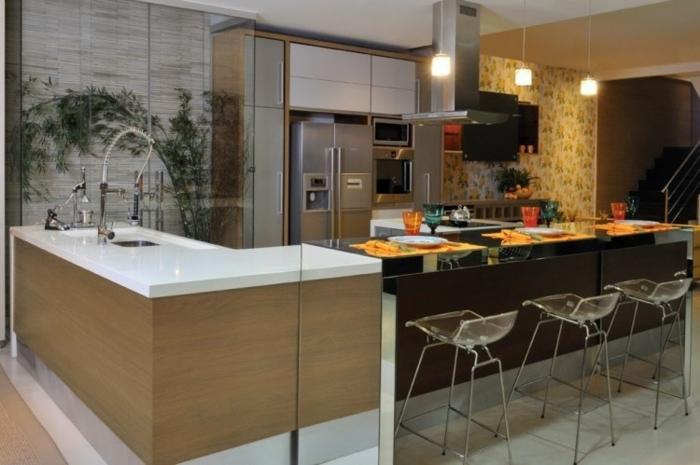 offene Küche Ideen Küchenbilder moderne Küche mit Essbereich