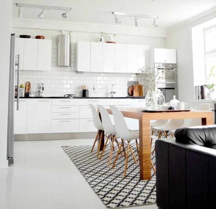 Offene Küche Ideen Küchenbilder Weiße Küche Mit Essbereich