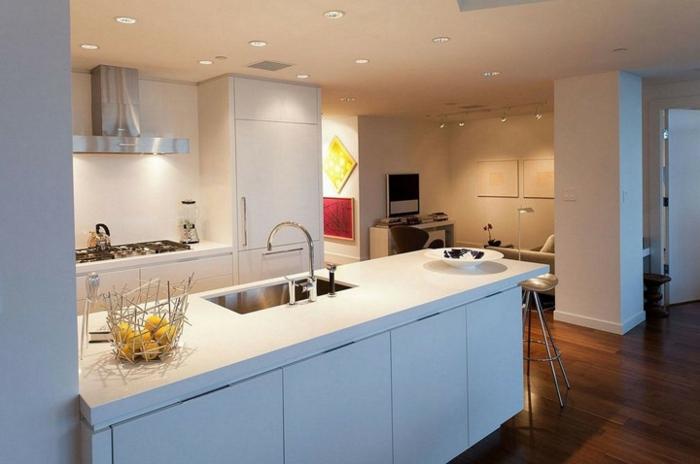 offene Küchen Küchengestaltung Ideen Küchenbeleuchtung Deckenleuchten