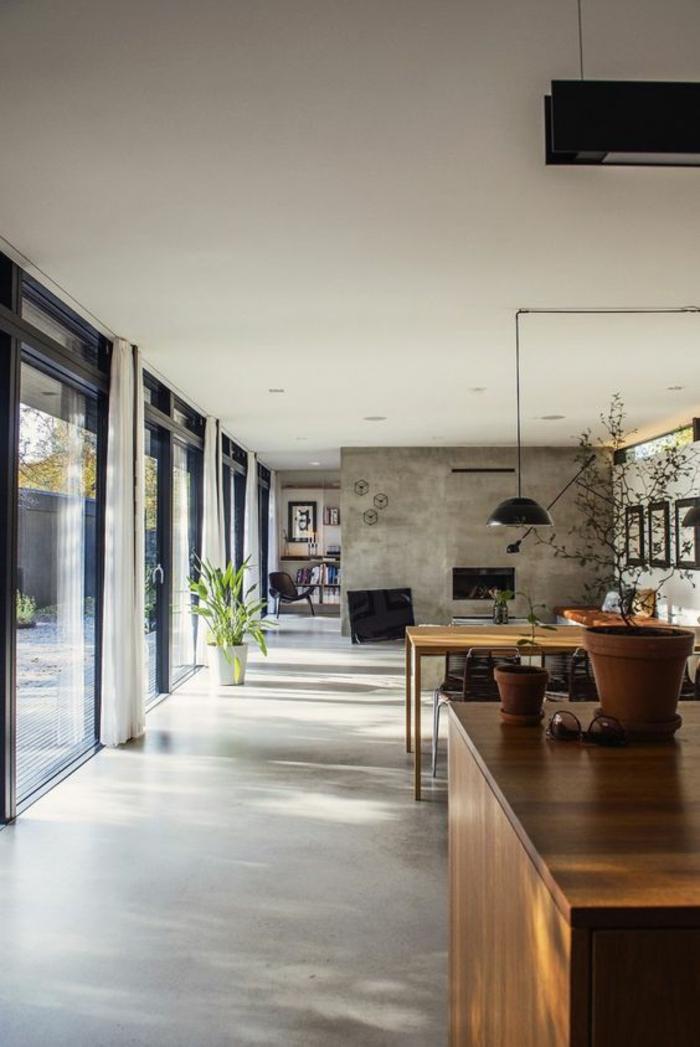 offene Küchen Küchengestaltung Ideen Küchenbilder Betonwände