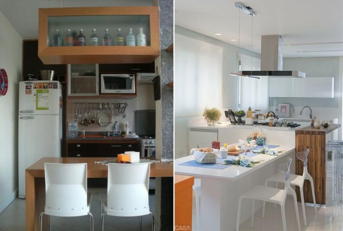 offene Küchen Küchengestaltung Ideen moderne Küchenmöbel praktisch