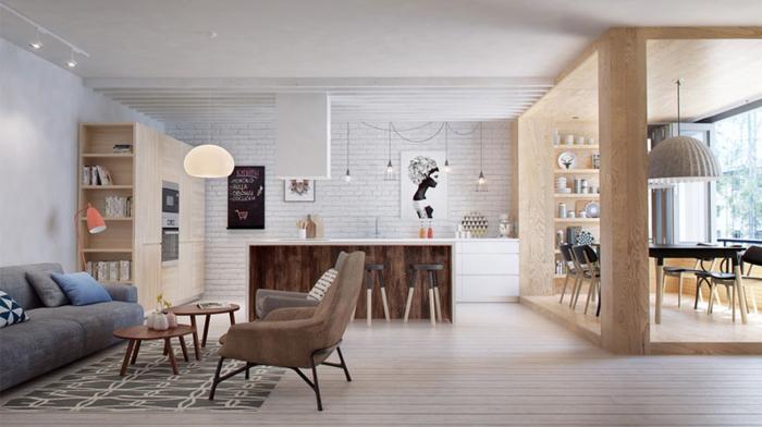 offene Küchen Küchengestaltung Ideen offener Wohnbereich