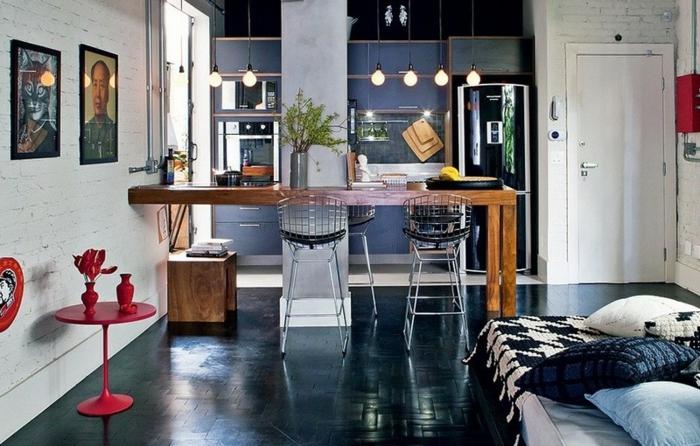 Offene Küchenschränke: Ein essplatz passt in jede küche ideen amp ...