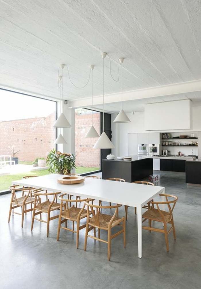 offene Küchen Küchengestaltung mit Essbereich inspirierende Küchenideen