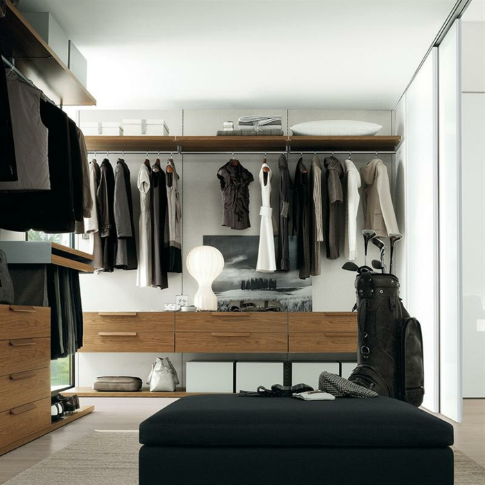 offener kleiderschrank in kleinem zimmer. Black Bedroom Furniture Sets. Home Design Ideas