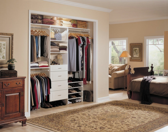 Offener Kleiderschrank In Kleinem Zimmer ~ Offener kleiderschrank im schlafzimmer ~ Offener kleiderschrank ideen