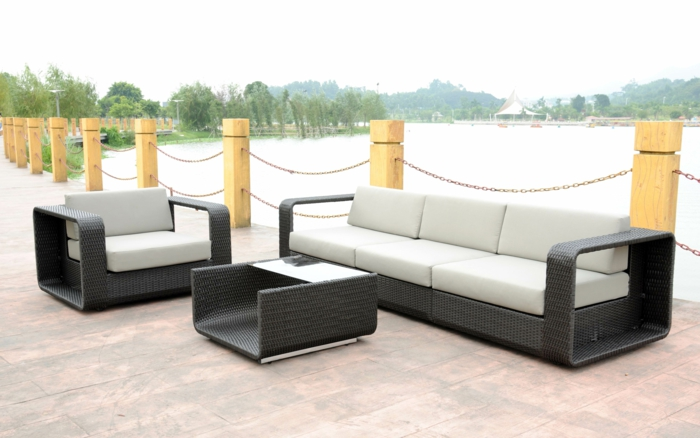 35 rattan sofa garten rattan sofas sind perfekt f r ihre gartenoase. Black Bedroom Furniture Sets. Home Design Ideas