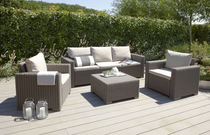 35 rattan sofa garten rattan sofas sind perfekt f r ihre gartenoase. Black Bedroom Furniture Sets. Home Design Ideas