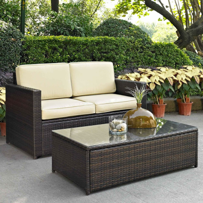 rattan ecksofa garten neuesten design. Black Bedroom Furniture Sets. Home Design Ideas