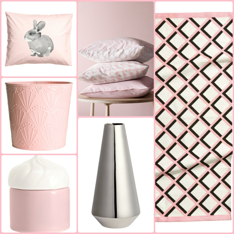 dekoartikel f rs schlafzimmer in rosa und silber von h m