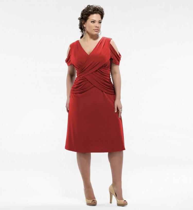 rote Damenkleider Kleider in großen Größen