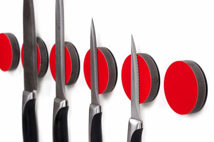 runde Messer Magnetleiste rot Küchenzubehör