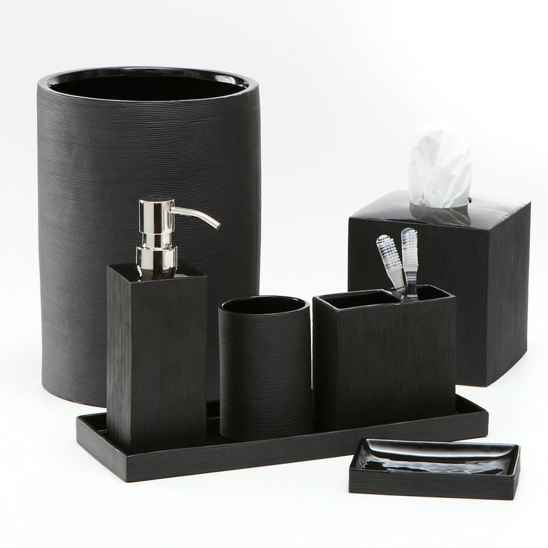 eisl bambus bad accessoires wc zubeh r set kristall. Black Bedroom Furniture Sets. Home Design Ideas