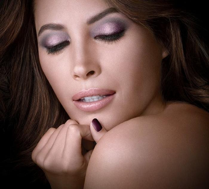 schminktipps für braune augen farbpalette lidschatten violett maybeline