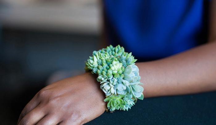 schmuckdesign echte pflanzen die noch wachsen kette handfgelenk