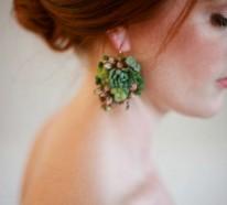 Sukkulenten Schmuckdesign, das Juwelen beim Tragen wachsen lässt