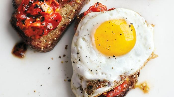 schnelles essen schnelles gesundes essen ei aufm toast