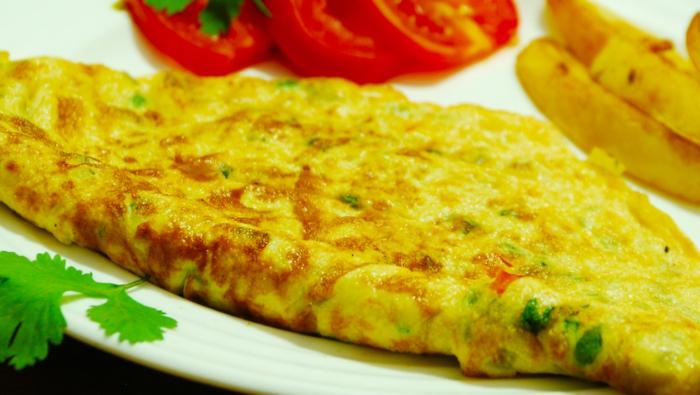 schnelles essen essen ei omelett käse koriander
