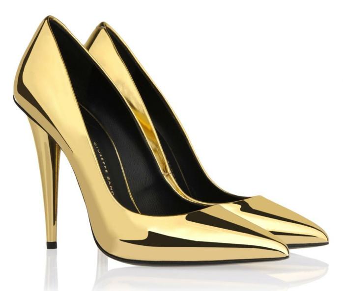 schwarze pumps weiß pumps goldene pumps gold