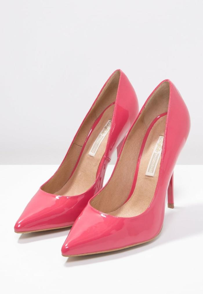 weiße pumps goldene pumps pink