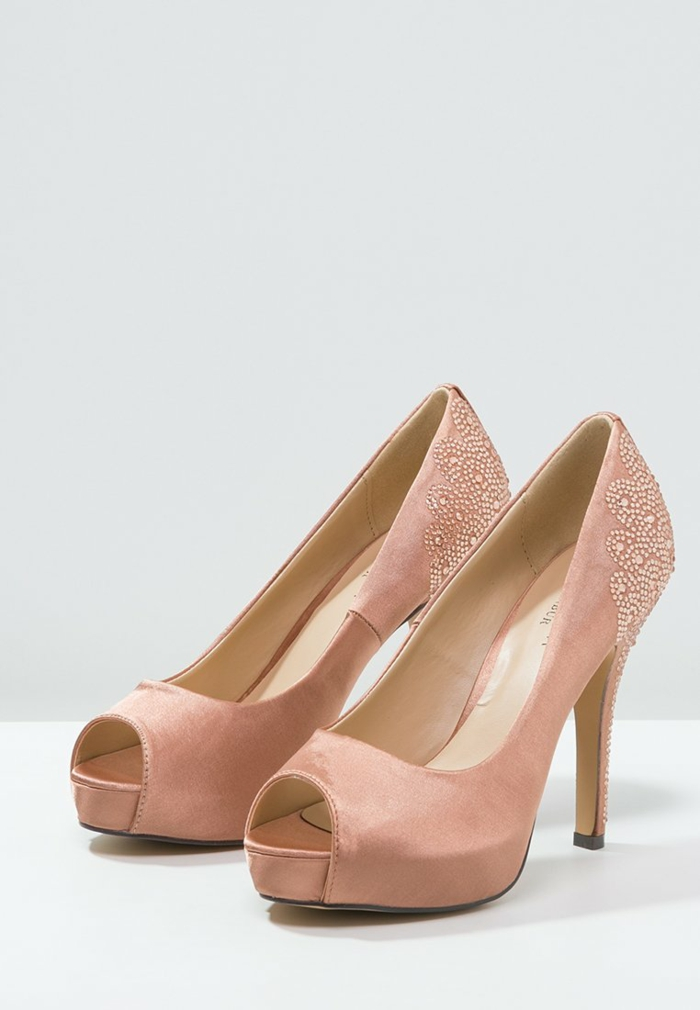 weiße pumps golden pumps rosa samt