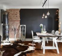 Wandfarbe Schwarz: 59 Beispiele für gelungene Innendesigns