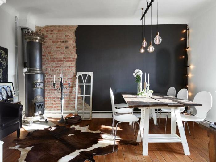wandfarbe schwarz 59 beispiele f r gelungene innendesigns. Black Bedroom Furniture Sets. Home Design Ideas
