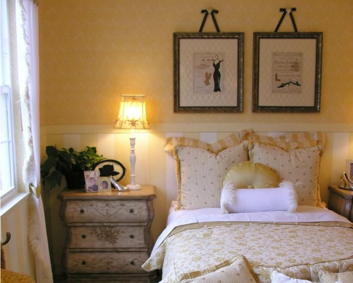 shabby chic kommode anrichte antike möbel vintage stil schlafzimmer nachttisch nachtkonsole florale muster