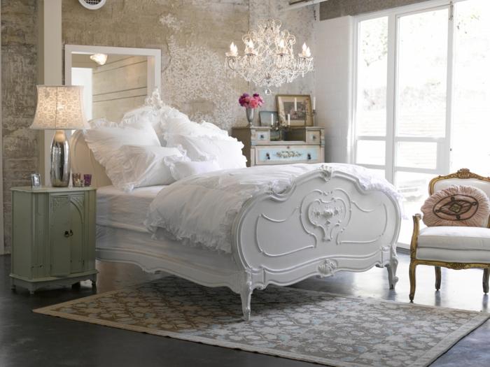 shabby chic kommode anrichte pastellgrün vintage stil romantisches schlafzimmer