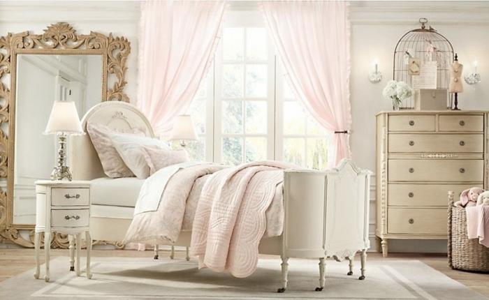 shabby chic kommode romantisches schlafzimmer anrichte schubladen cremeweiss