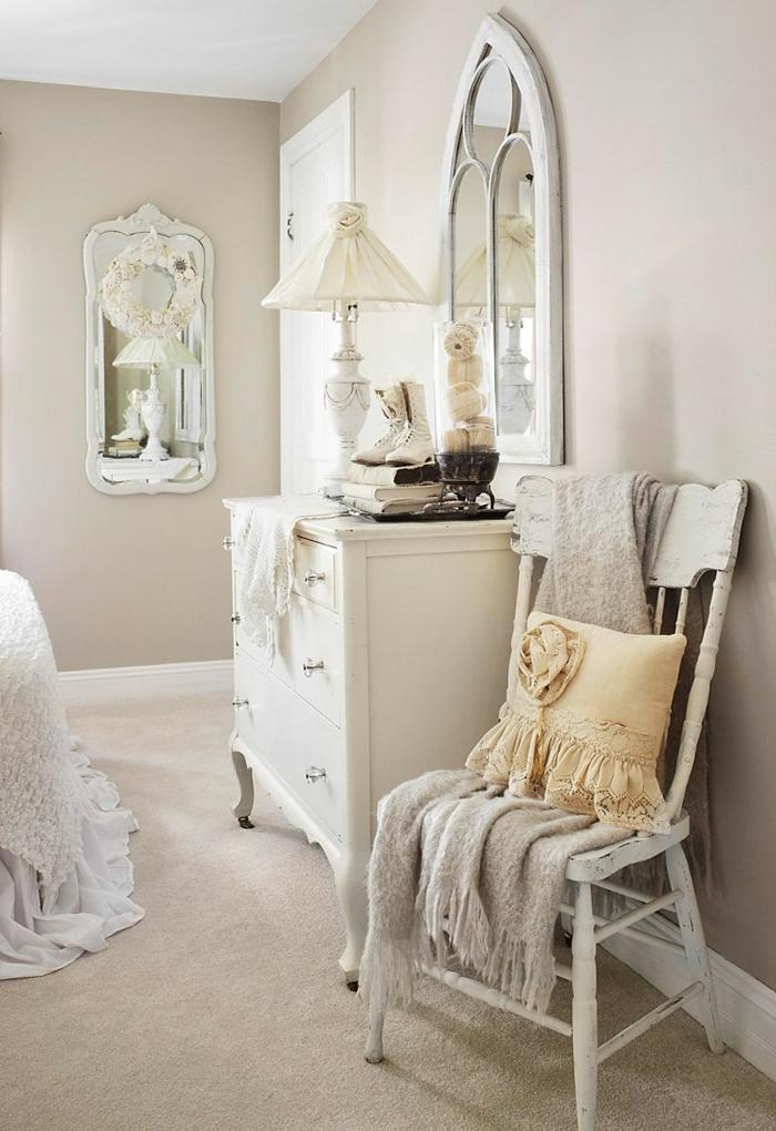 shabby chic kommode romantisches schlafzimmer anrichte weiß barockstil