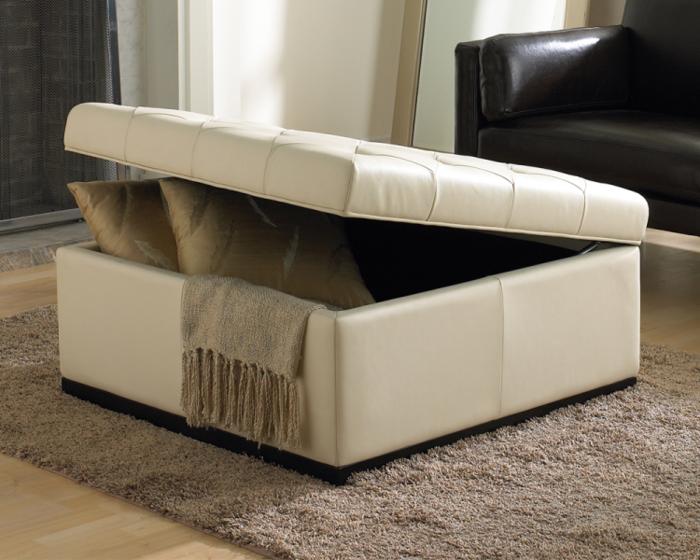 sitzhocker mit stauraum weiß elegant wohnzimmerteppich