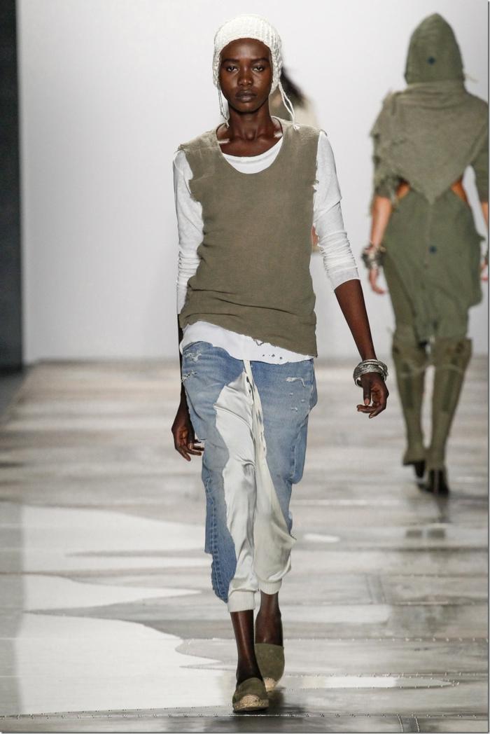 sommermode frauenmode damen greg lauren 2016 pulli jeanshose