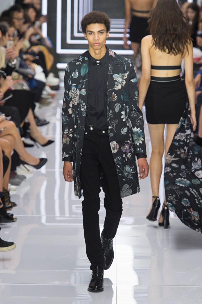 sommeroutfits versace 2016 sommermode frühling sommer herrenmode sakko schwarze hose hemd