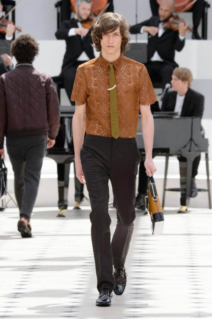 sommeroutfits 2016 sommermode herrenmode trends menswear spitze hemd krawatte
