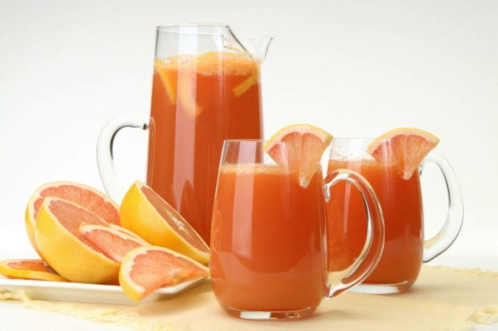 untergewicht korrigieren zunehmen gesunde getränke grapefruit
