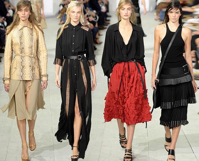 vintage kleider damenmode neue tendenzen frühling sommer 2016 michael kors
