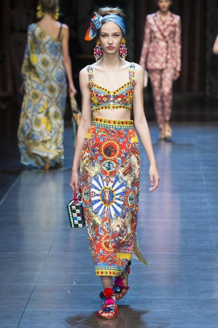vintage kleider damenmode neue tendenzen sommer milan fashion week dolce gabbana