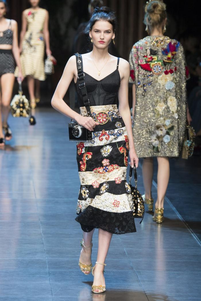 vintage kleider damenmode neue tendenzen kleid frühling sommer kollektion dolce gabbana