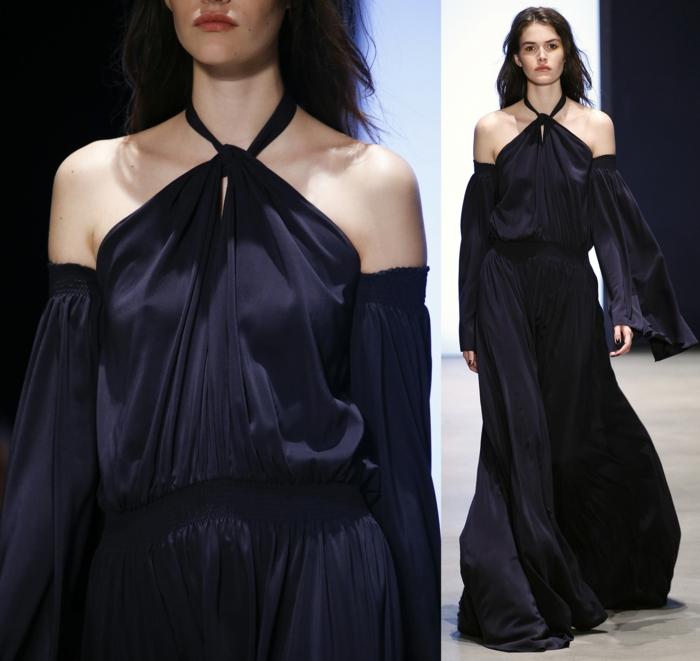 vintage kleider damenmode neue tendenzen langes kleid 2016 derek lam