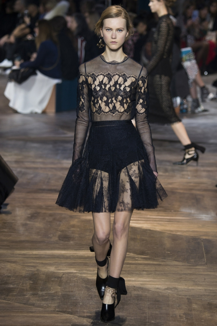 vintage kleider damenmode neue tendenzen schwarze spitze kleid 2016 christian dior