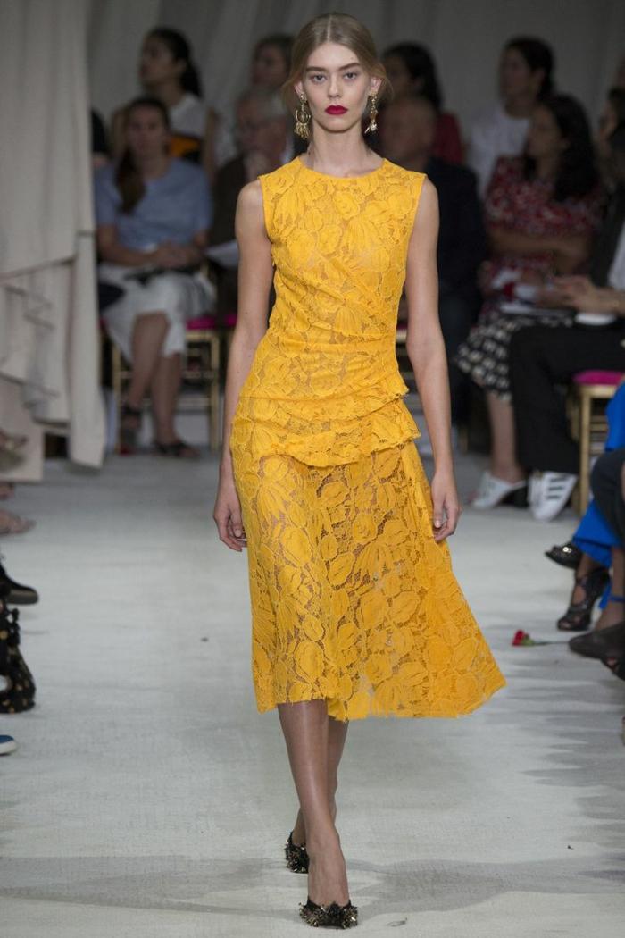 vintage kleider new fahion week 2016 damenmode aktuelle trends oscar de la renta