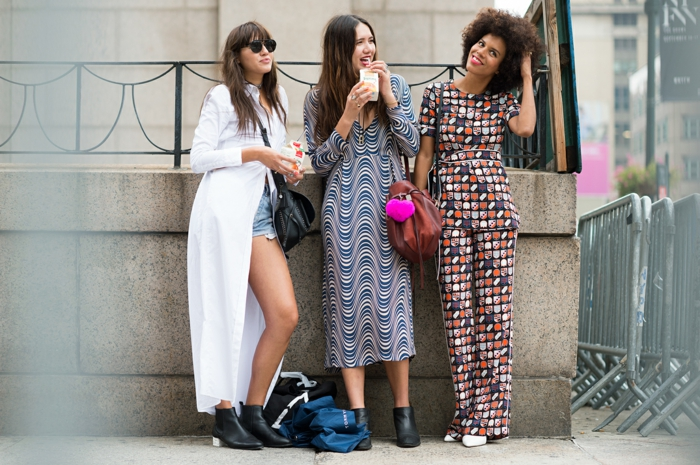 vintage kleider new york fahion week 2016 damenmode street style urban